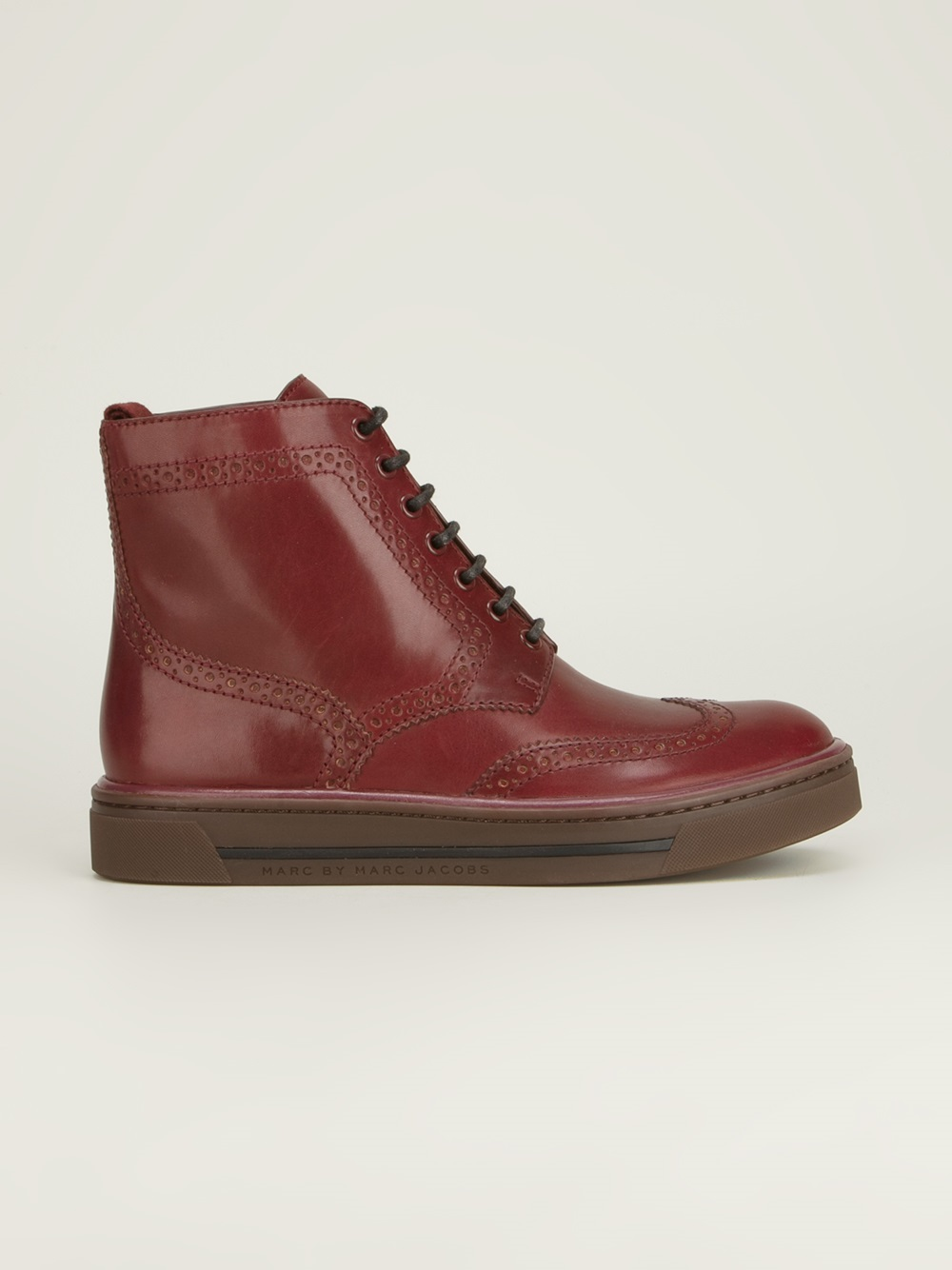 Marc By Marc Jacobs Brogue Sneaker Boot in Red (Purple)