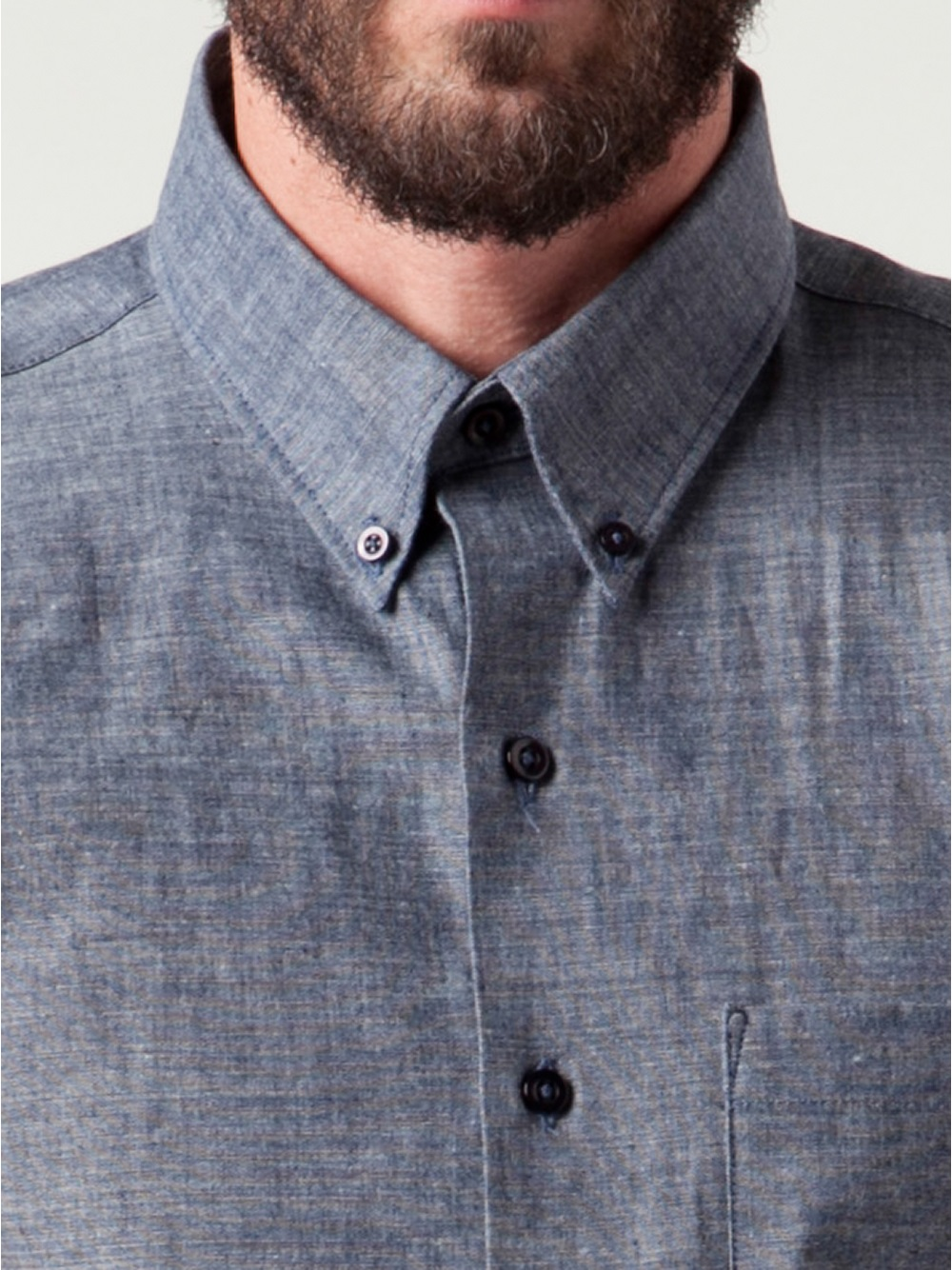 Lyst - Naked  Famous Chambray Shirt In Blue For Men-7786