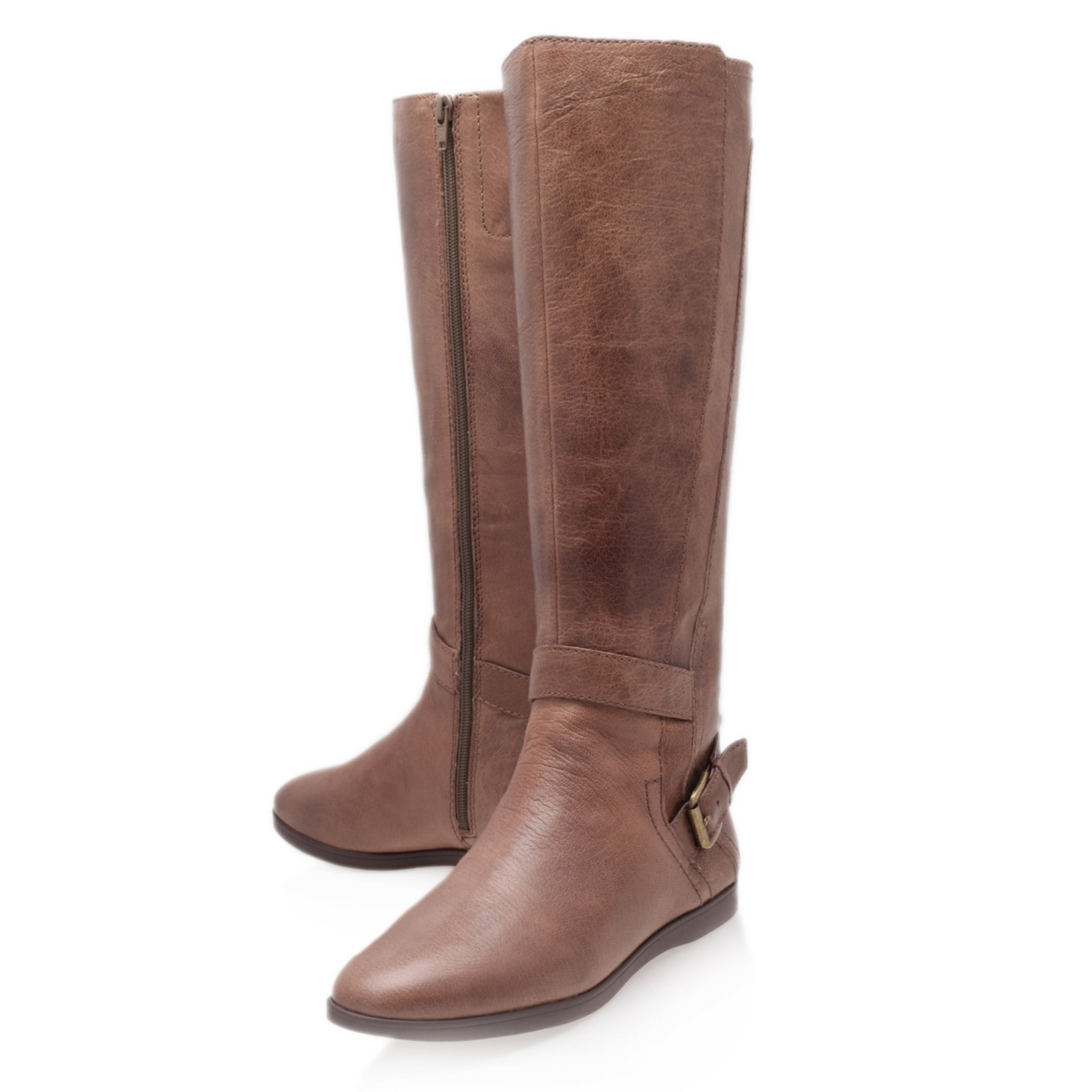 Nine West Toxicatn Knee Boots in Taupe (Brown)