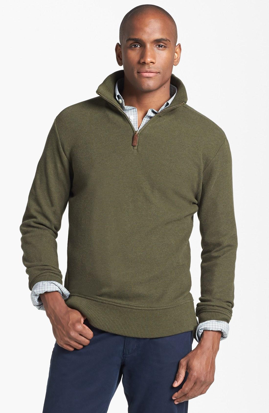 polo ralph lauren alpaca half zip pullover in green for men alpine heather lyst. Black Bedroom Furniture Sets. Home Design Ideas