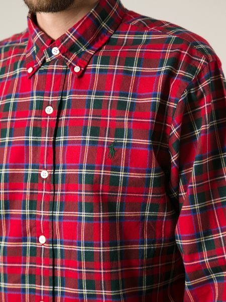 Polo Ralph Lauren Plaid Button Down Shirt In Red For Men