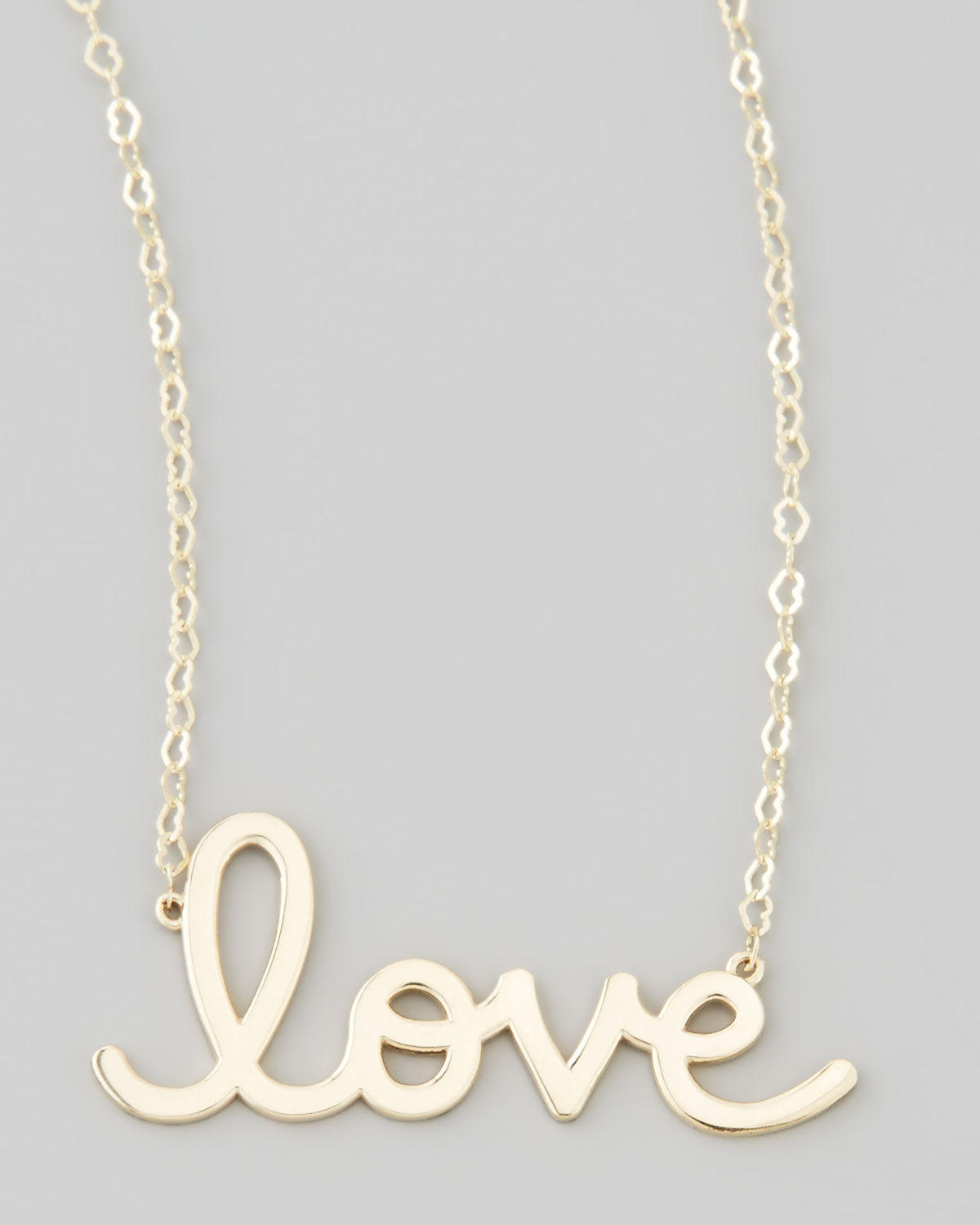 Lyst sydney evan gold love pendant necklace in metallic gallery aloadofball Image collections