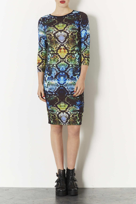 Lyst Topshop Snake Midi Dress
