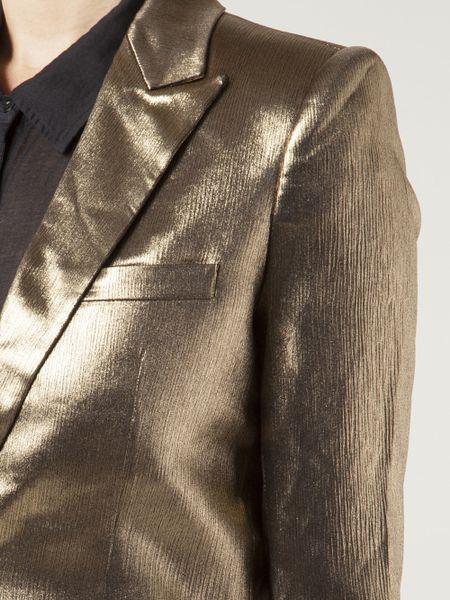 Metallic Suit Jacket Unconditional Suit Jacket