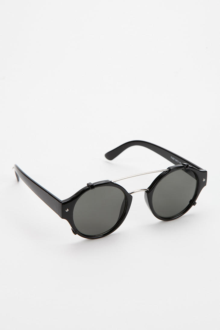 be3aaf92f39c7 Urban Outfitters Spitfire Flick Round Sunglasses in Black for Men - Lyst
