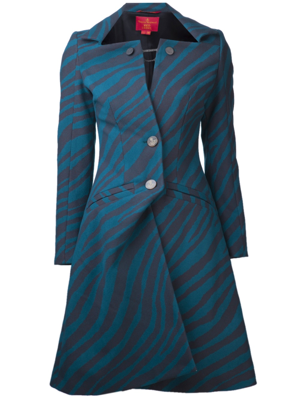 Vivienne Westwood Red Label Cappotto Coat In Blue Lyst
