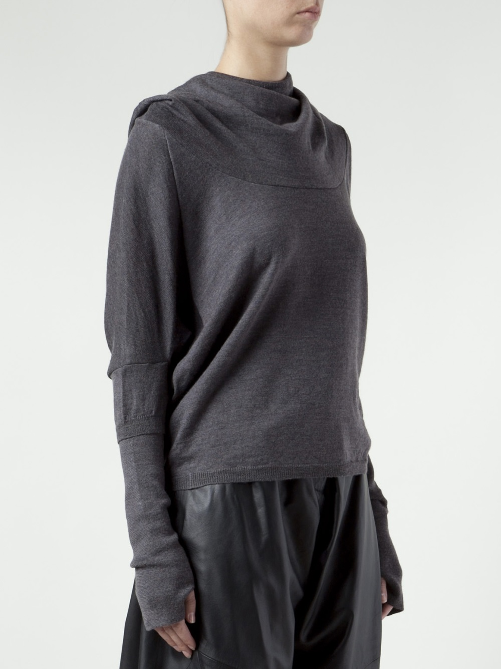 Vivienne westwood red label Cowl Neck Sweater in Gray | Lyst