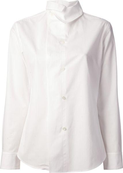 White Blouse High Collar 84
