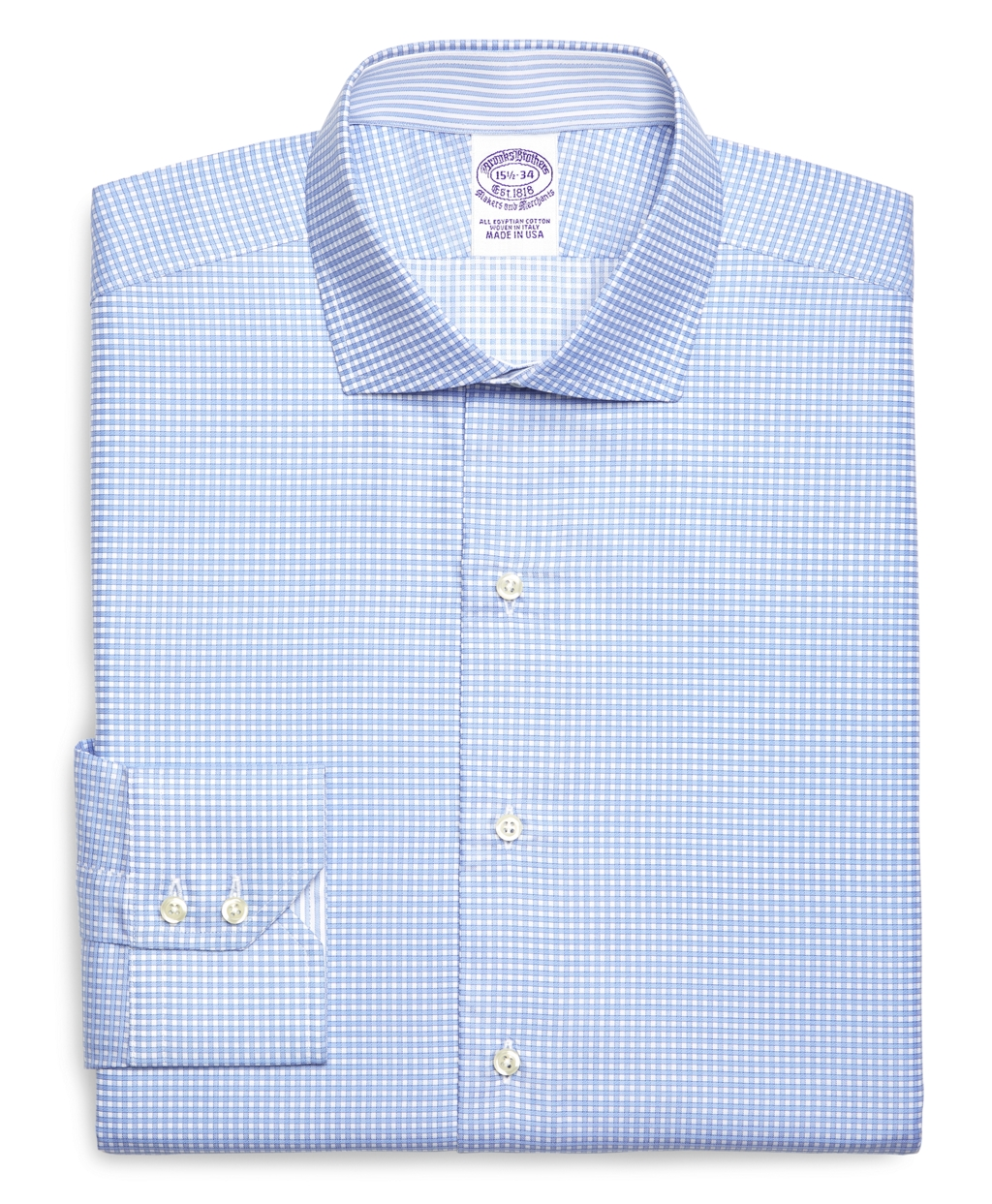 Brooks brothers egyptian cotton slim fit spread collar for Mens egyptian cotton dress shirts