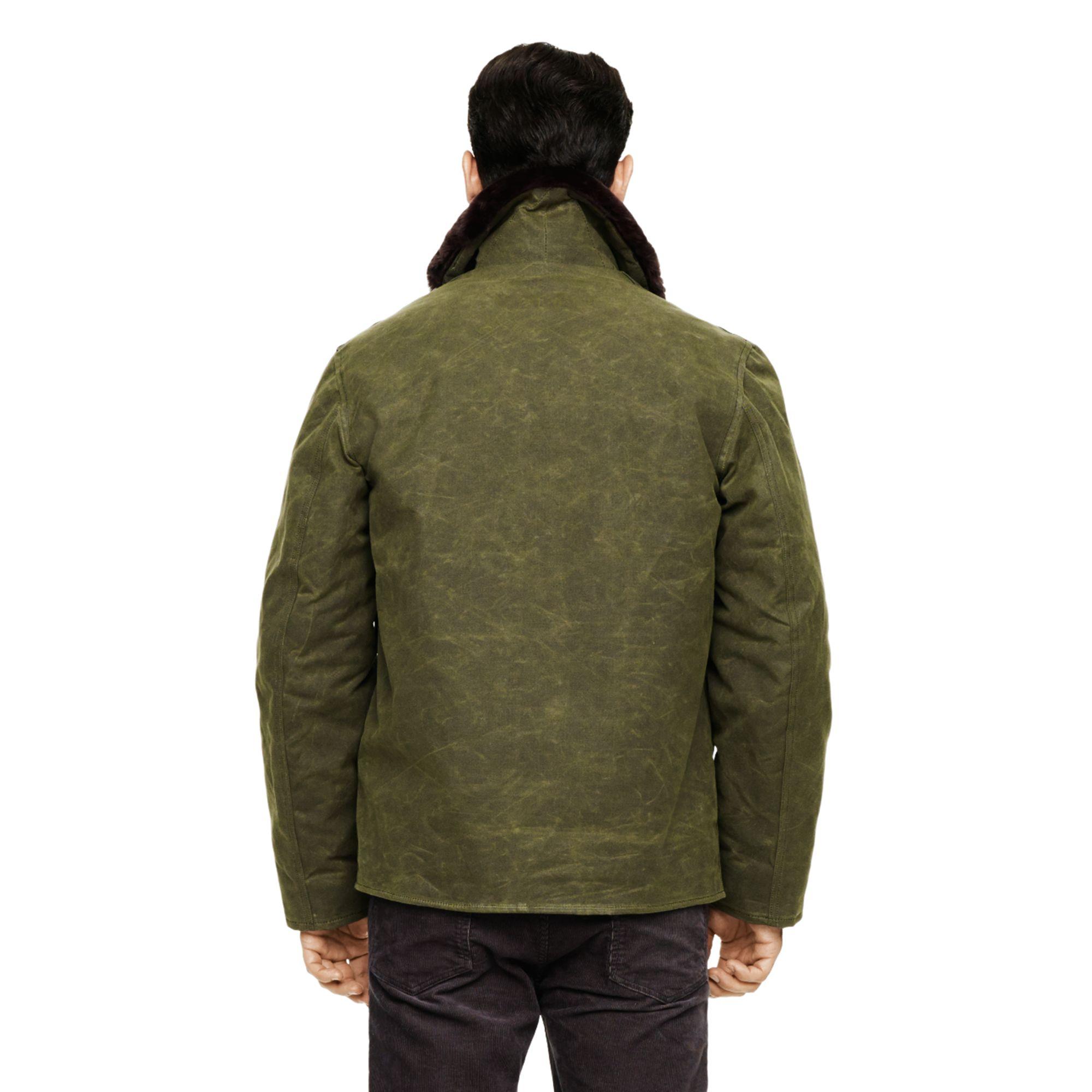 Lyst Club Monaco Spiewak Waxed Deck Jacket In Green For Men
