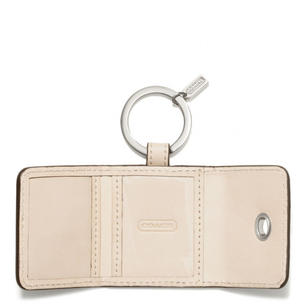 Lyst coach faux python turnlock picture frame key ring in metallic gallery jeuxipadfo Gallery