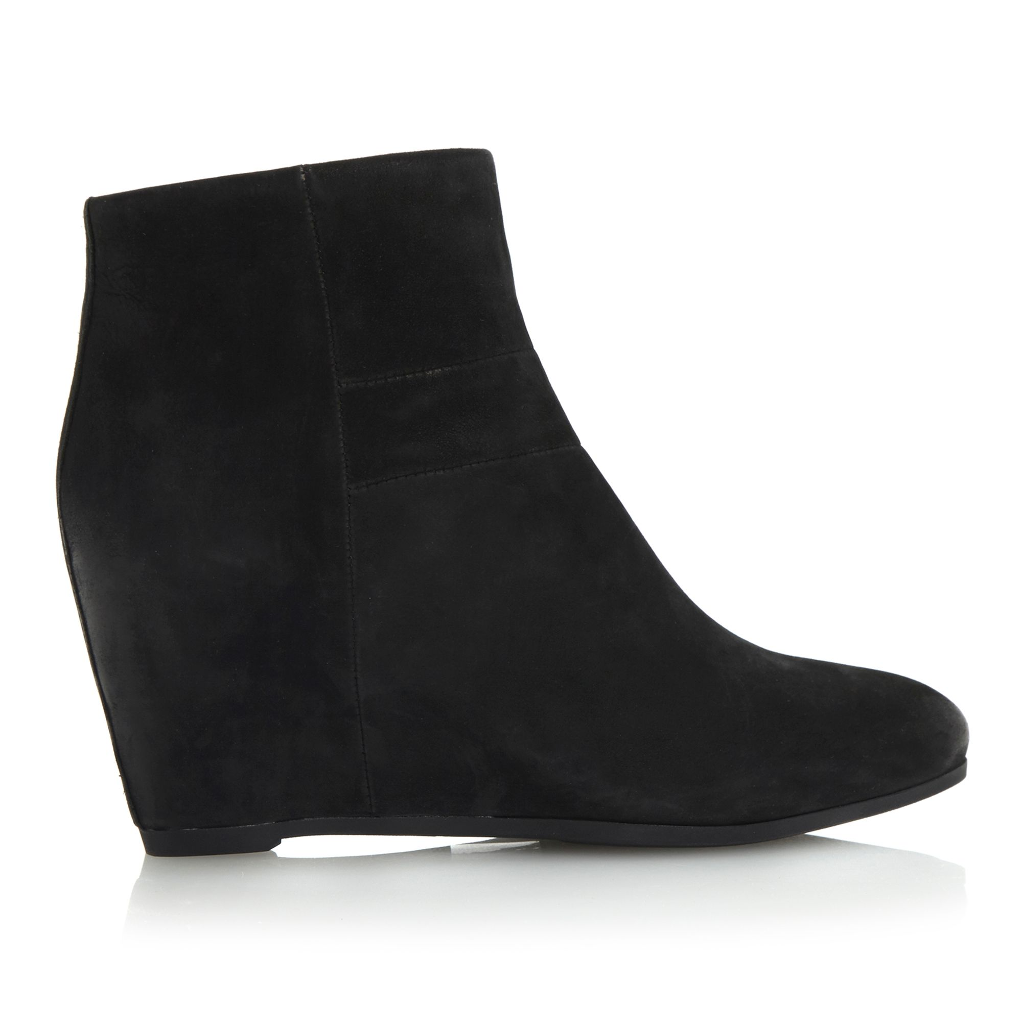 geox ultraviolet d34 side wedge ankle boots in black