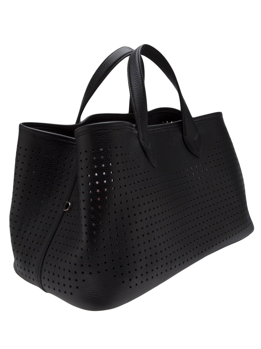Golden Goose Deluxe Brand Perforated Tote in Black
