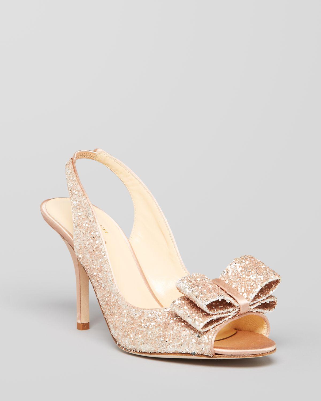 Gold Bow Heels - Qu Heel