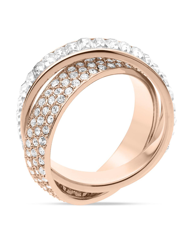 michael kors baguette band intertwined ring in pink rose. Black Bedroom Furniture Sets. Home Design Ideas