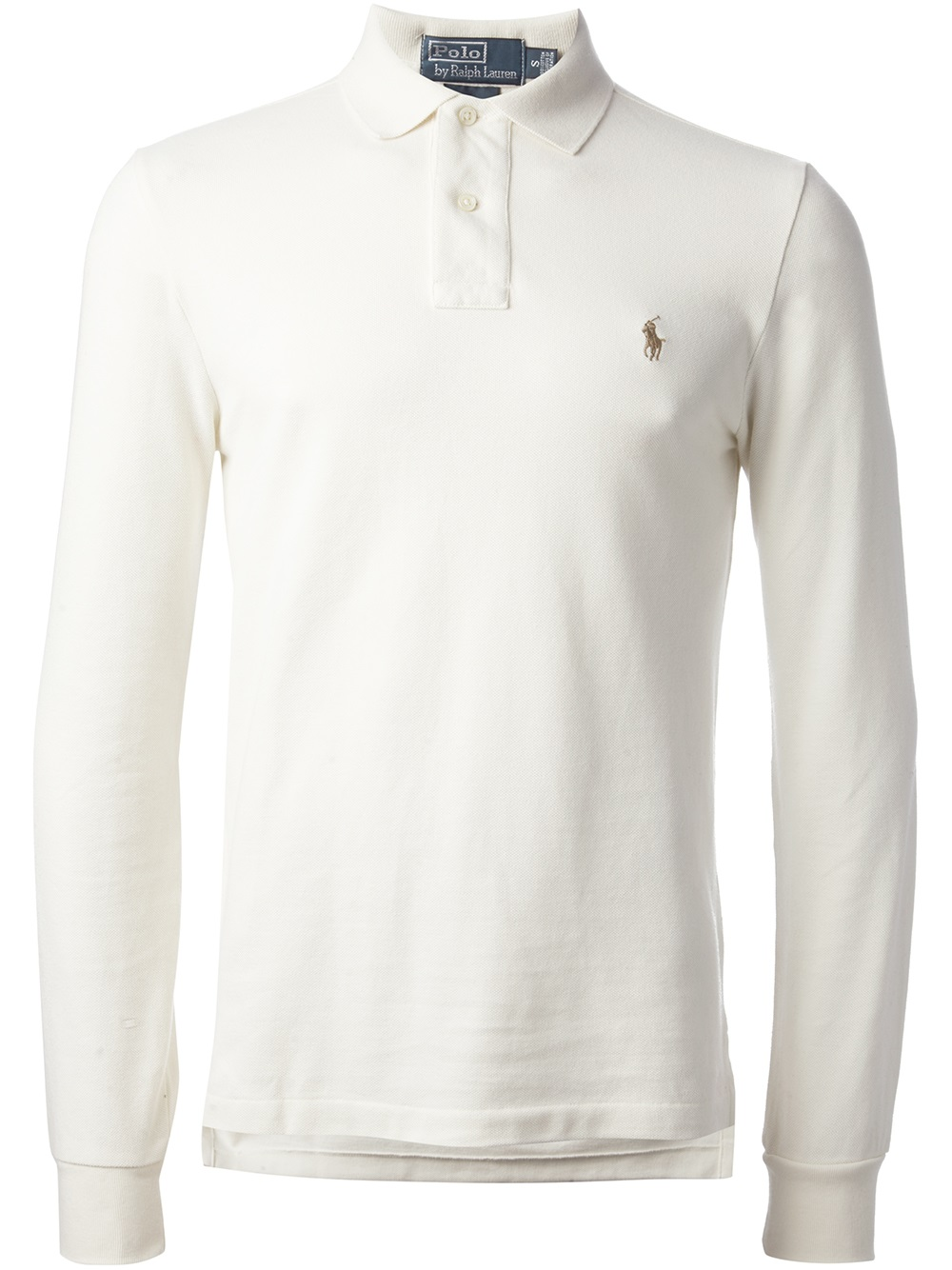 Lyst polo ralph lauren long sleeve polo shirt in white for Polo shirts long sleeve men