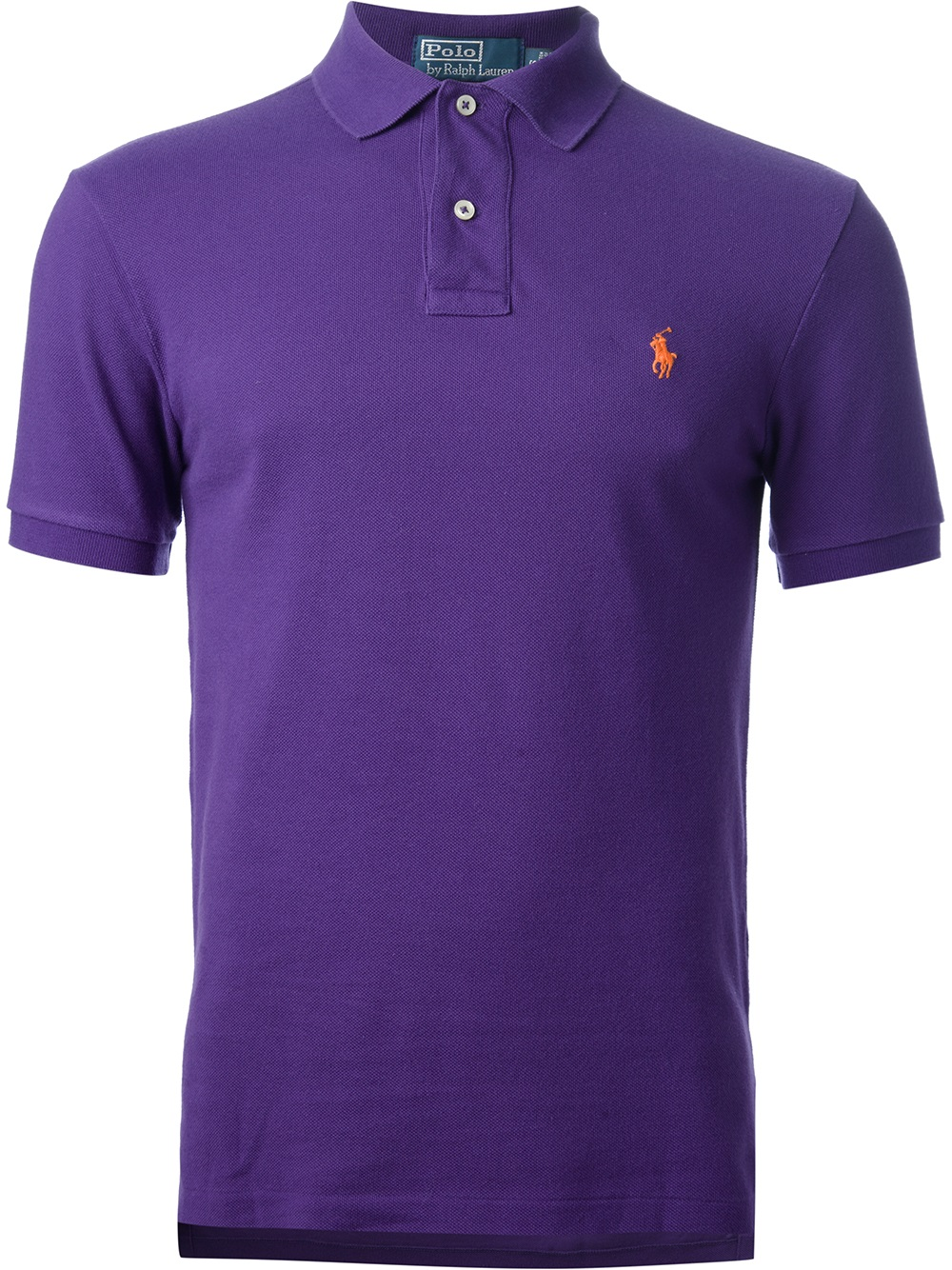 Lyst polo ralph lauren short sleeve polo shirt in purple for Long sleeve purple polo shirt