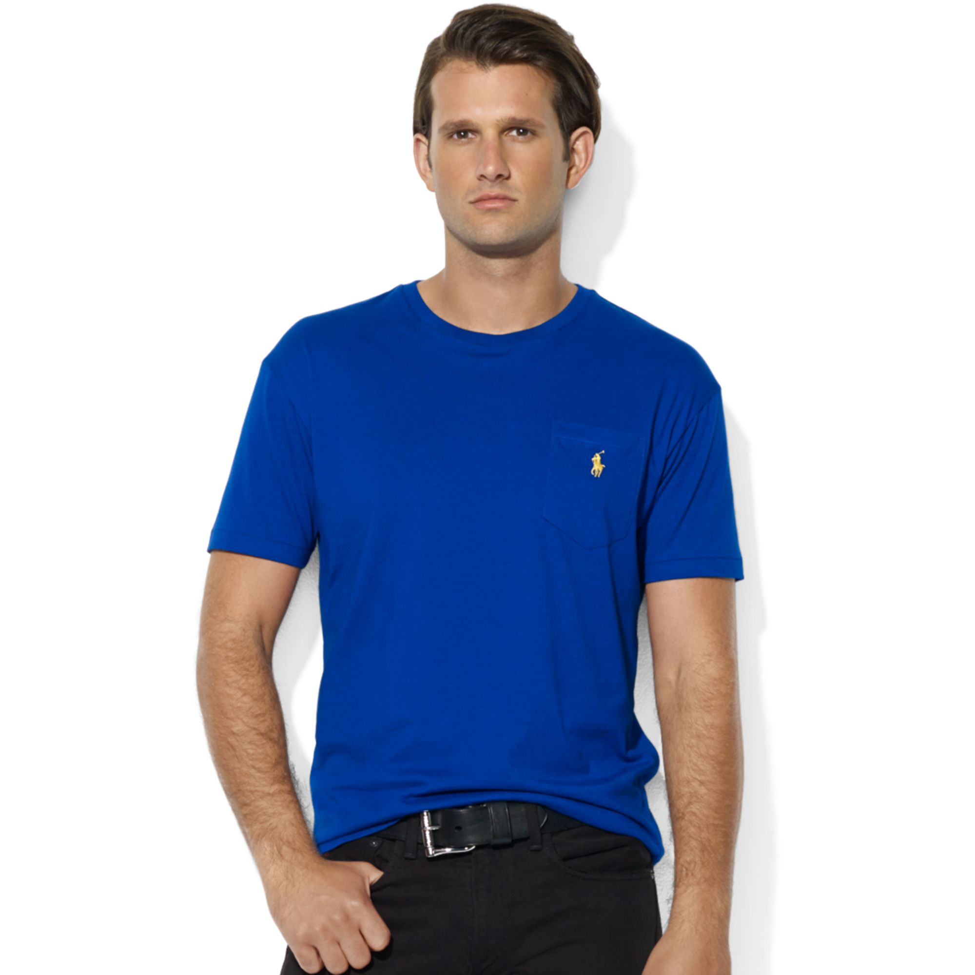 159440b3c Polo Ralph Lauren Stretch Cotton Jersey V Neck T Shirt - Cotswold Hire