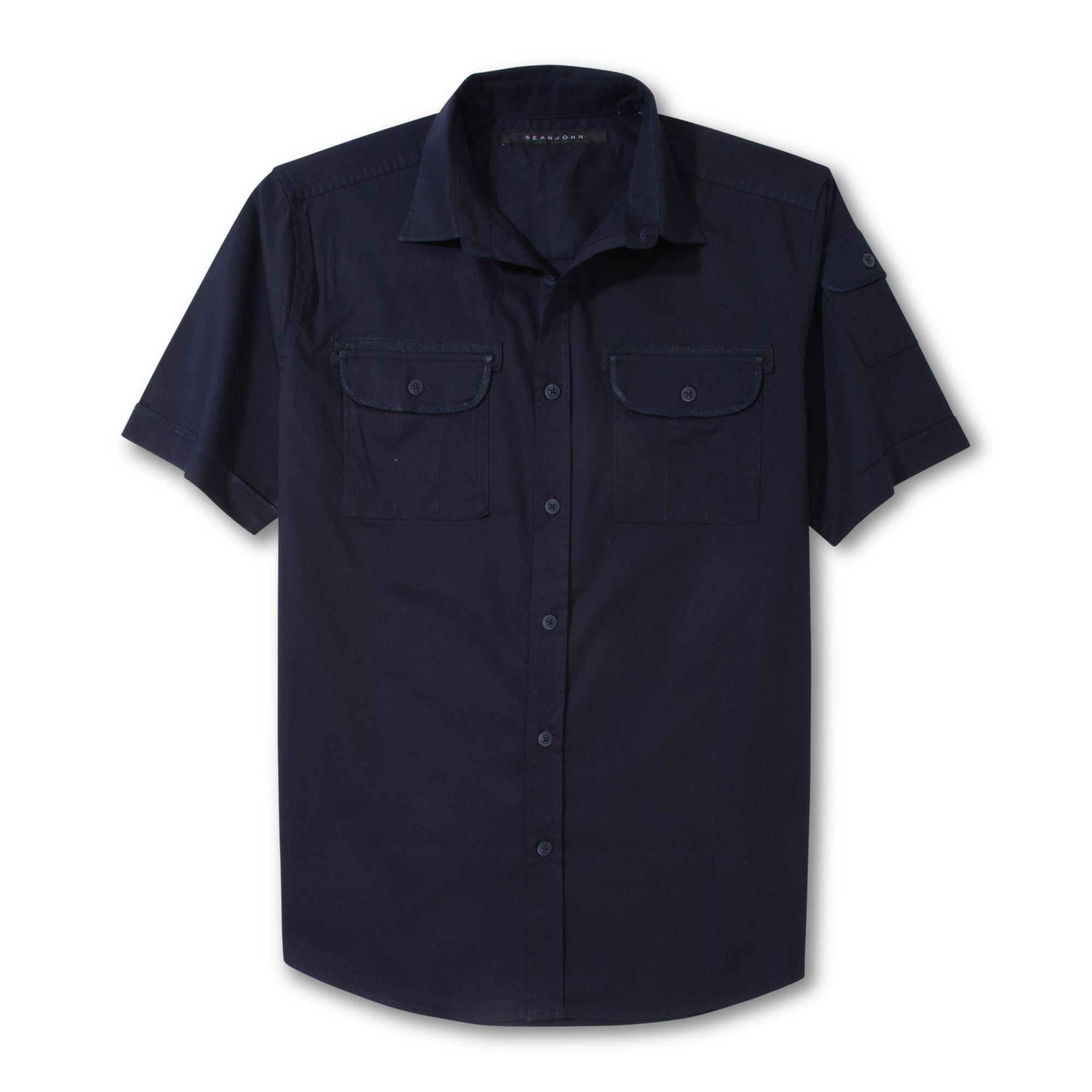 Dark Blue Short Sleeve Shirt