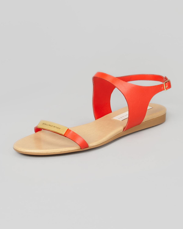 Stella McCartney Logo Sandals W6KbR