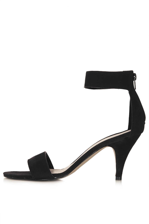 Topshop Nina Single Sole Mid Heels in Black | Lyst