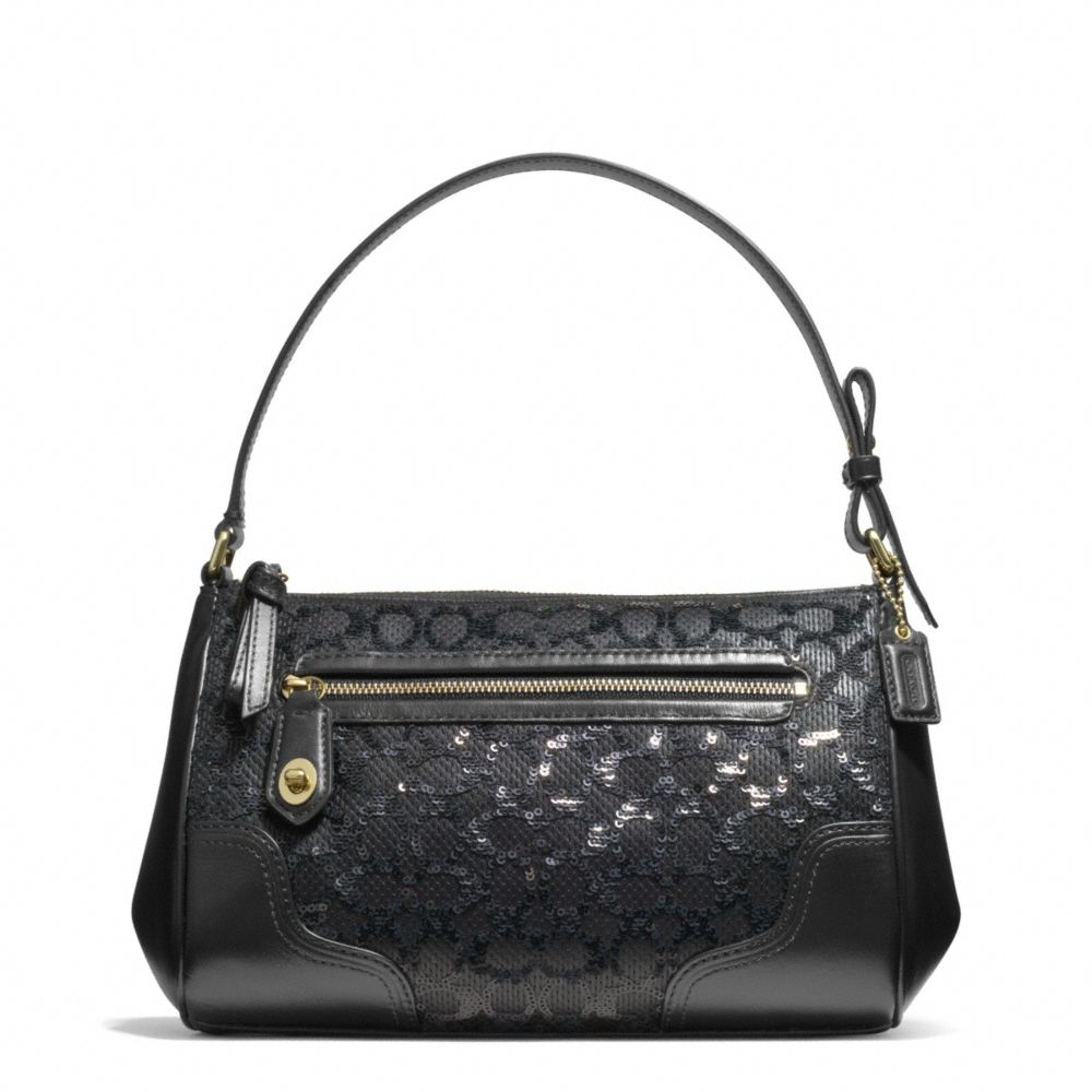 Lyst Coach Poppy Top Handle Pouch In Sequin Signature C