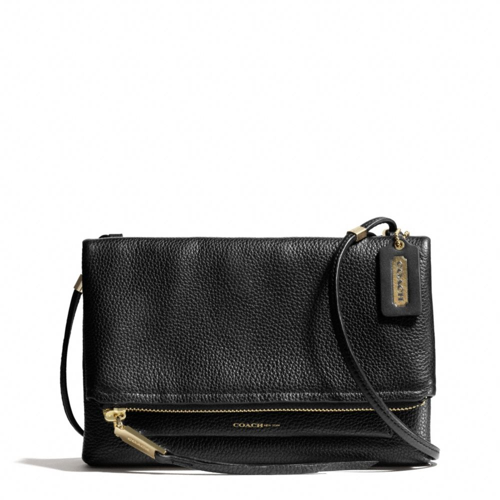 Coach The Urbane Crossbody Bag In Pebbled Leather In Black
