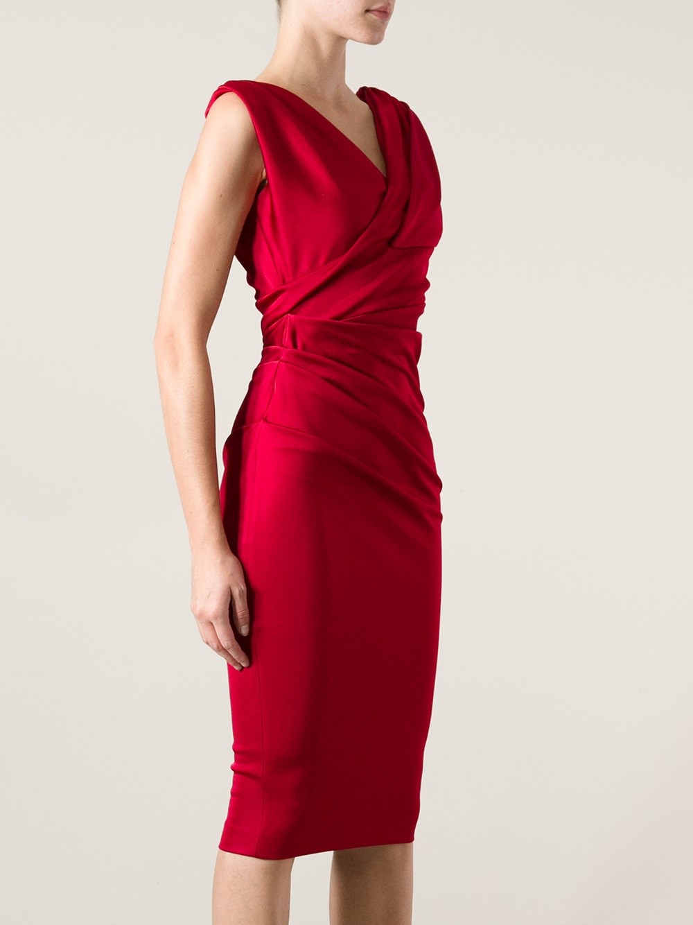 Dsquared 178 Fitted Dress In Red Lyst