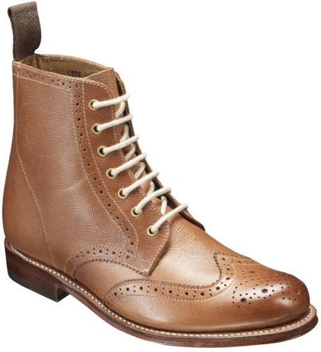 grenson womens ella brogue boots in brown for lyst