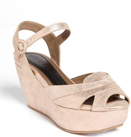 marni wedge platform sandal in pink light pink lyst