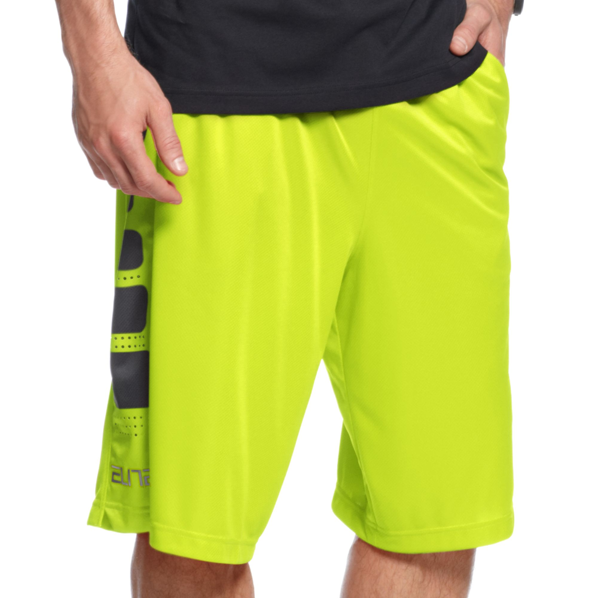 b6c3199c2f20 Lyst - Nike Elite Stripe Basketball Shorts in Yellow for Men