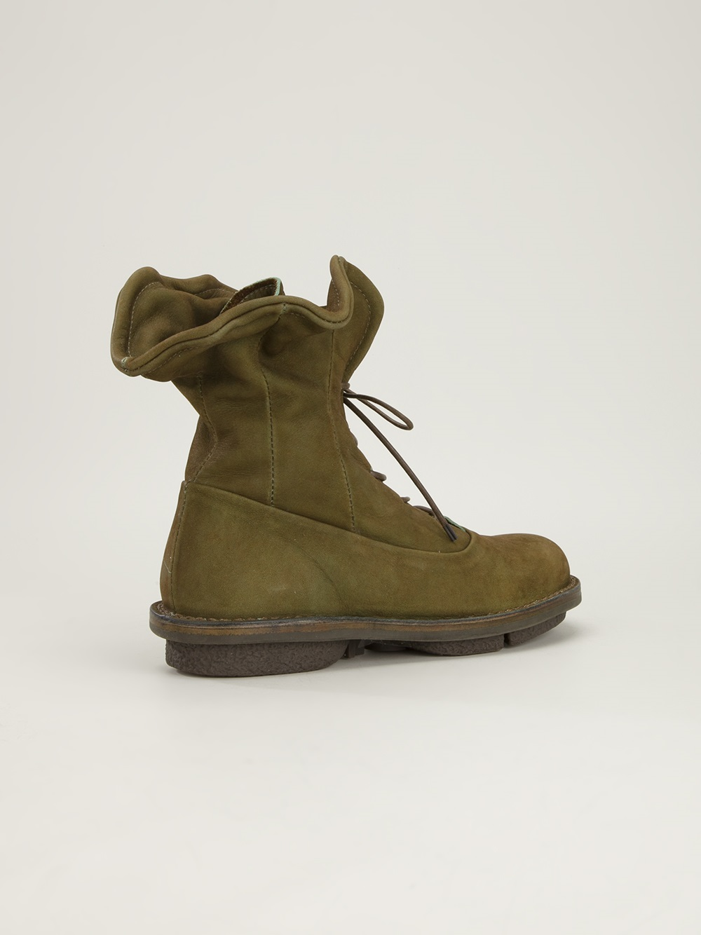 Trippen Corset Ankle Boot in Green
