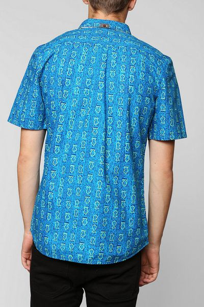 Urban outfitters vans clayton fish button down shirt in for Button down fishing shirts