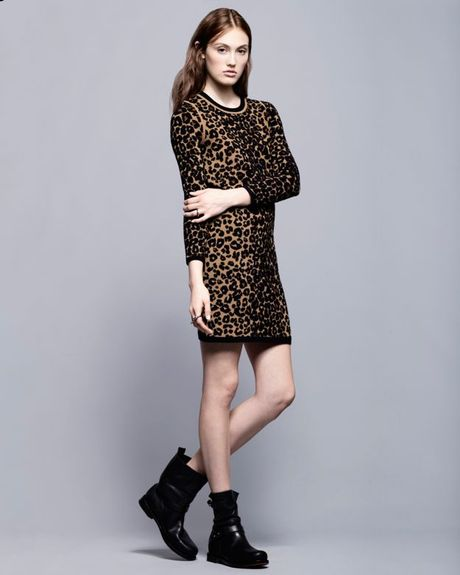 Alc Clothing Black Short Sleeve Knit Top Long Sleeve Knit Dress in