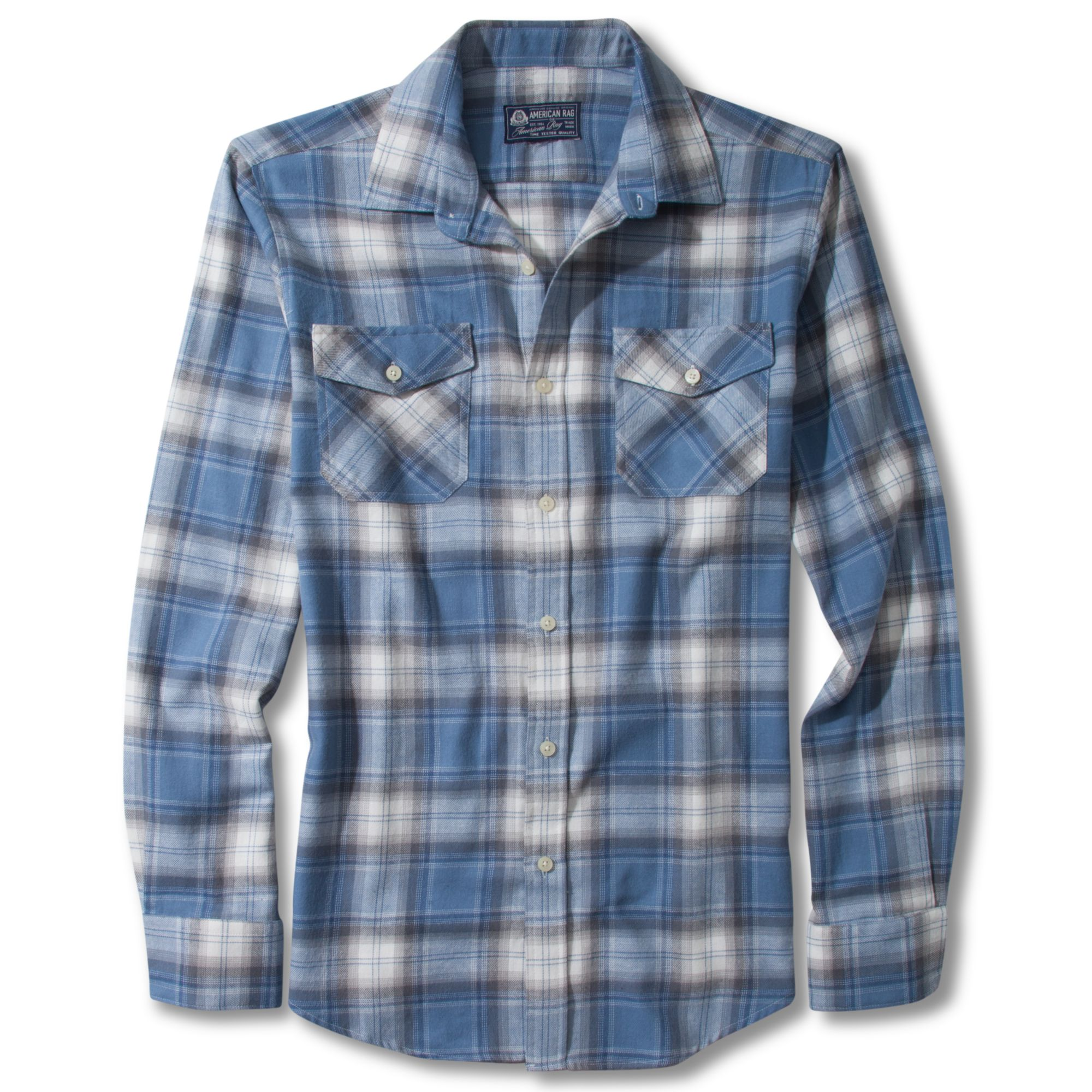 Lyst American Rag Flannel Shirt In Blue For Men
