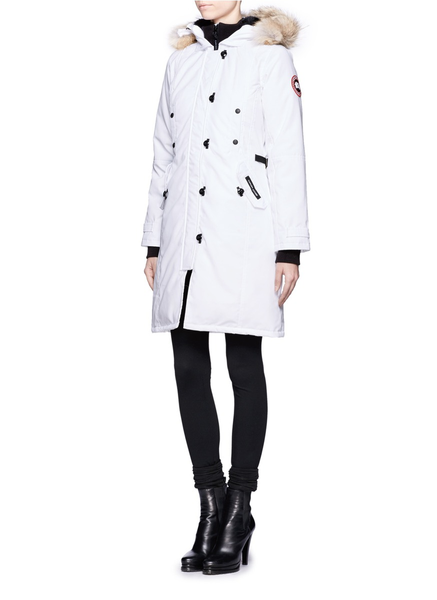 Canada Goose Kensington Parka In White Lyst