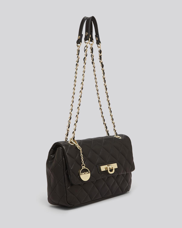 Lyst Dkny Shoulder Bag Gansevoort Quilted Nappa In Black