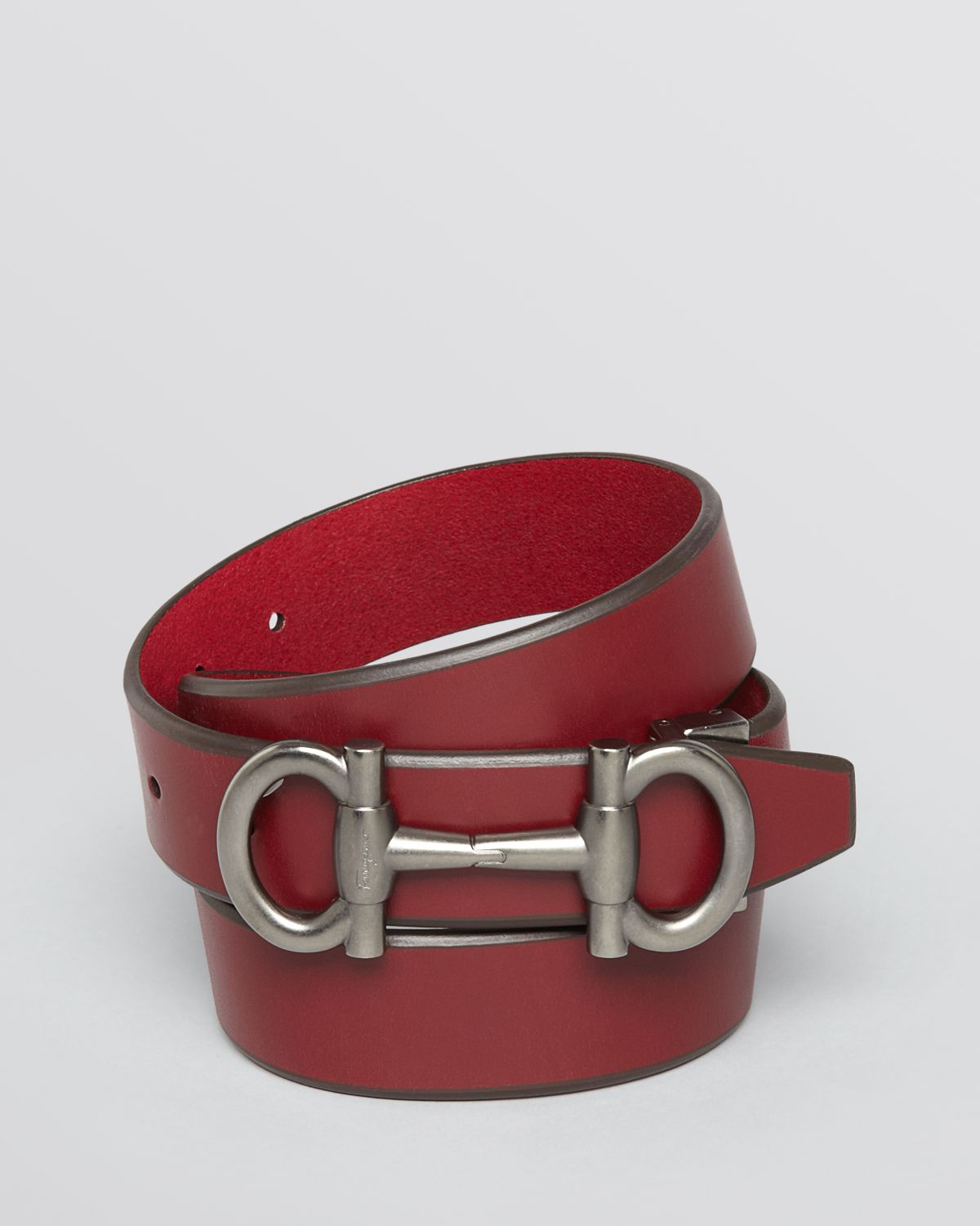 a55ccb92ecdaf ... spain lyst ferragamo buckle belt in red for men 09168 3f3e0