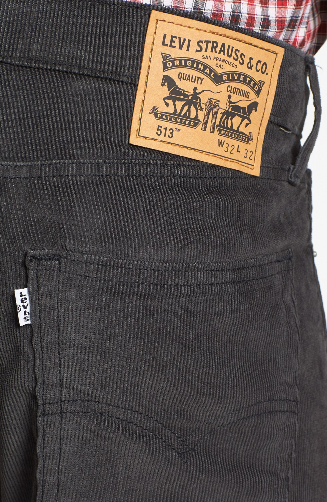 bdc6b8f5 Levi's 513 Slim Straight Leg Corduroy Pants in Gray for Men (Graphite .