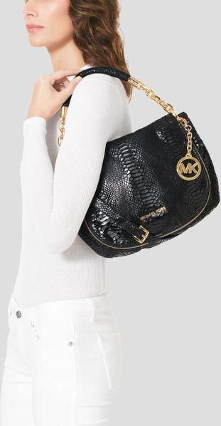 Michael Kors Medium Shoulder Bag In Black 80