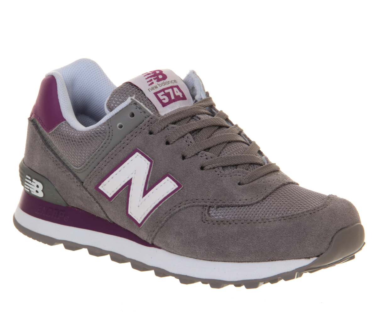 new balance 574 black grey white purple
