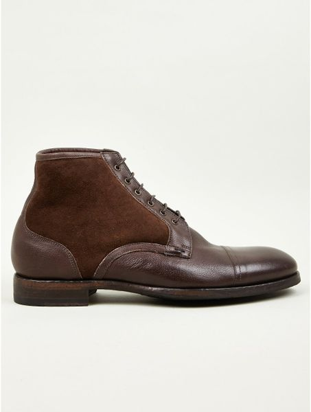 Paul Smith Mens Hardy Shearling Lined Boots In Brown For
