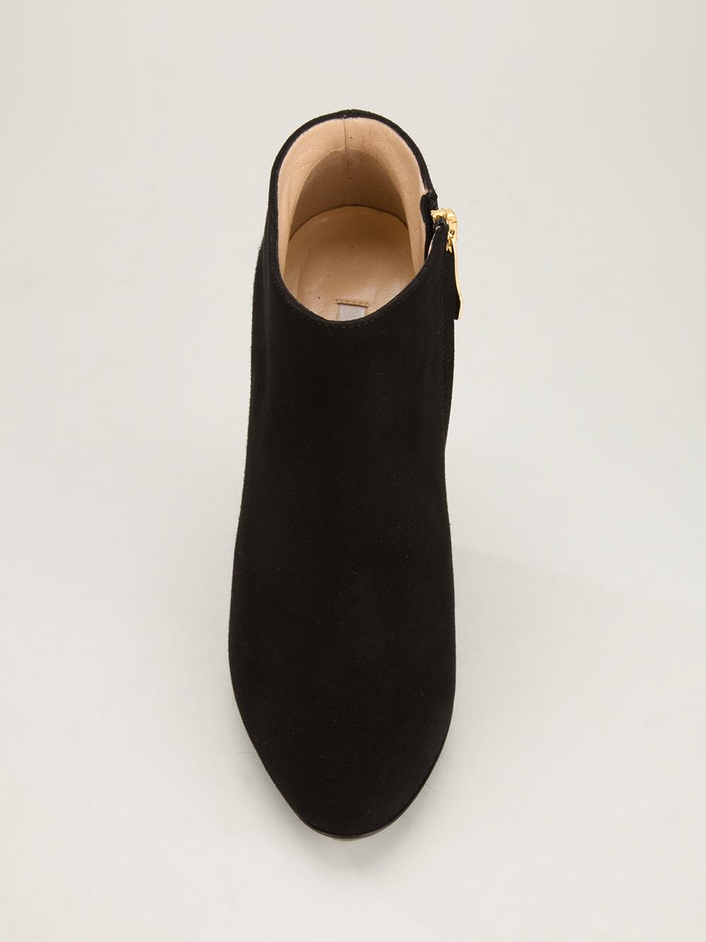 Gianmarco Lorenzi Sculpted Wedge Heel Bootie In Black Lyst