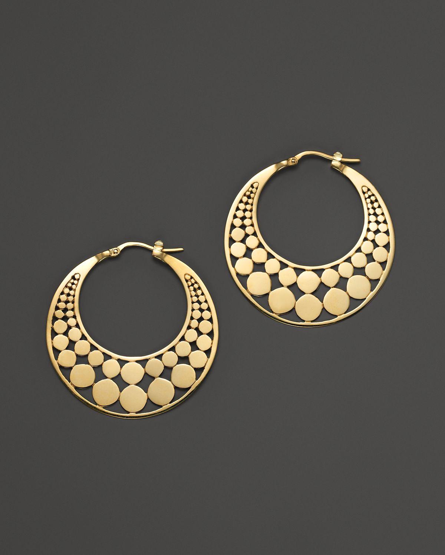 John hardy dot 18k yellow gold small side facing hoop for John hardy jewelry earrings