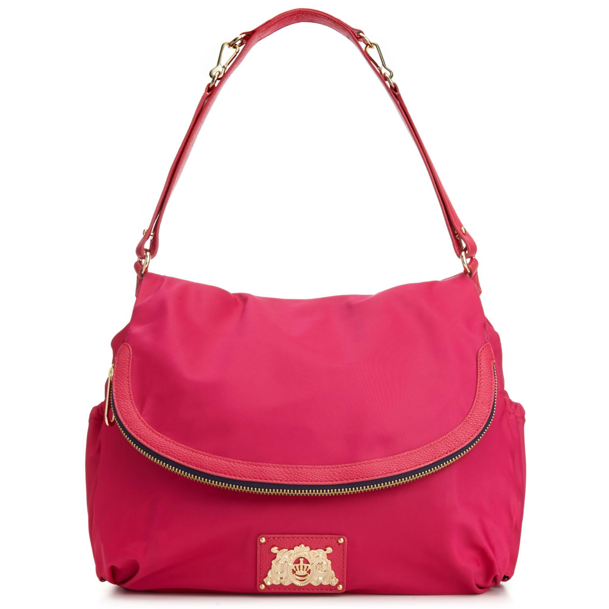 Lyst - Juicy Couture Malibu Nylon Crossbody Baby Bag in Pink 2f84b4fd9e