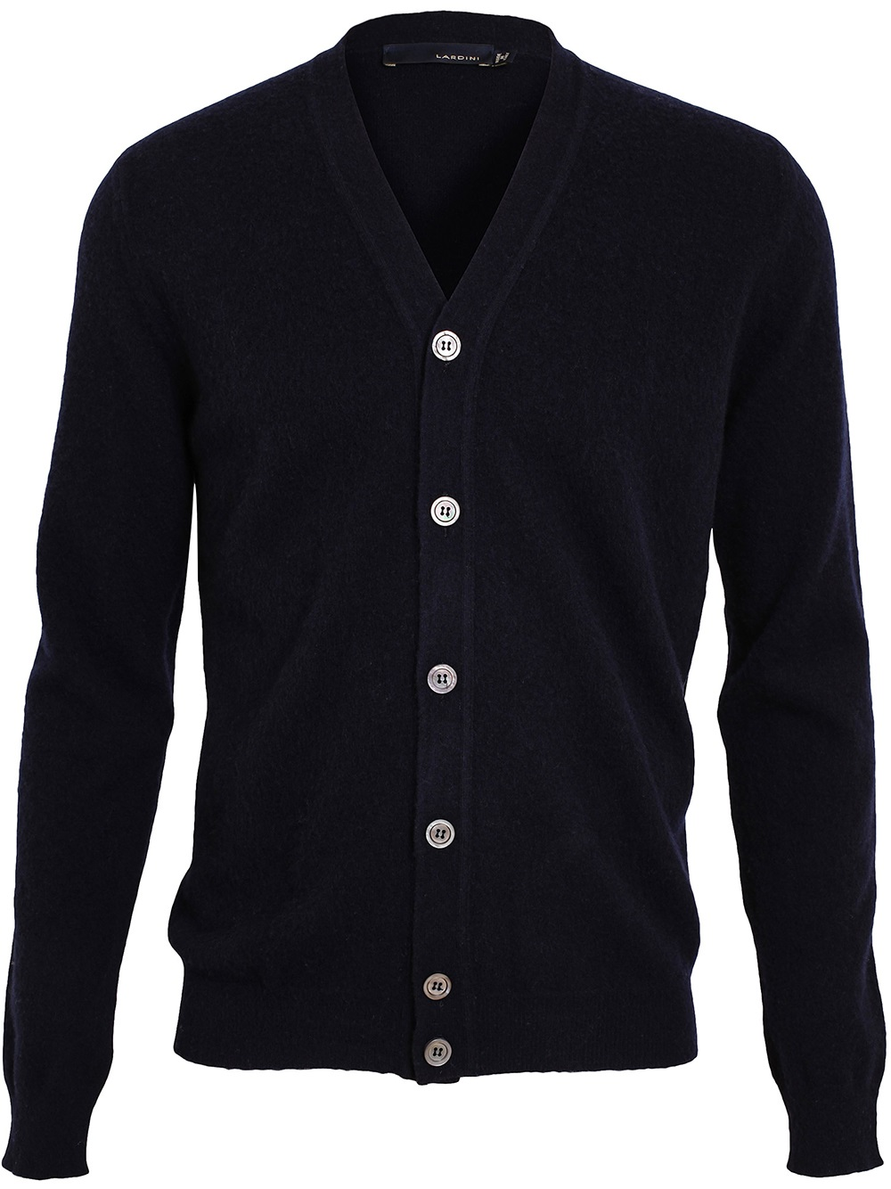 Lardini Soft Wool Cardigan in Blue for Men | Lyst