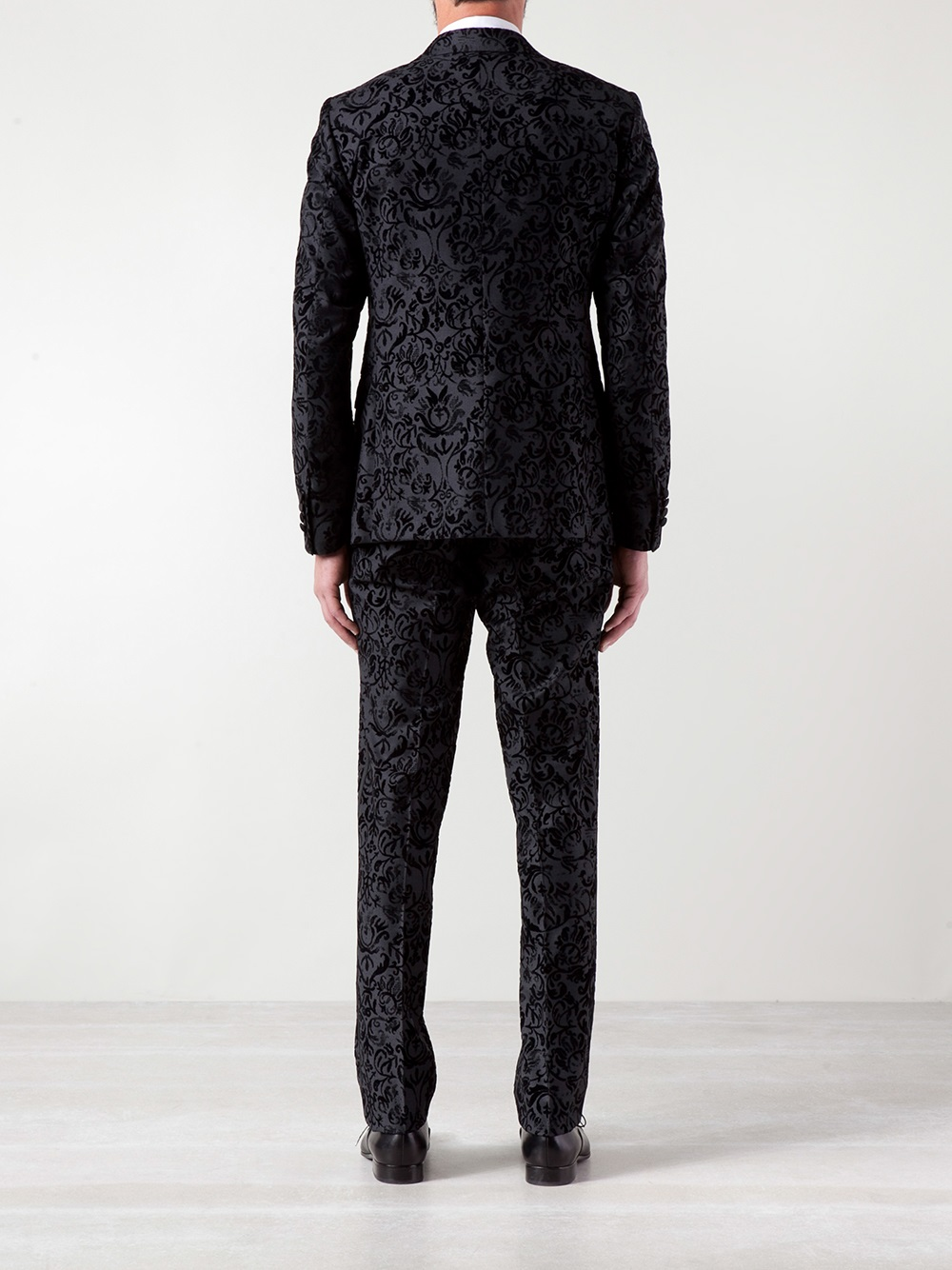 Lyst Moschino Damask Suit In Black For Men
