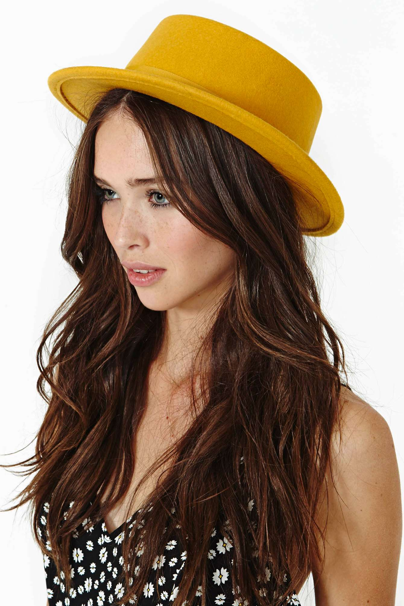 41d76b6557b ... promo code for lyst nasty gal brixton avenue hat in yellow 4a4d0 ddcdf