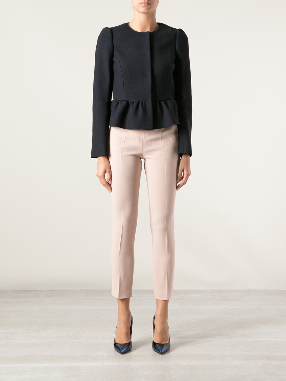 Lyst Red Valentino Bow Detail Jacket In Blue