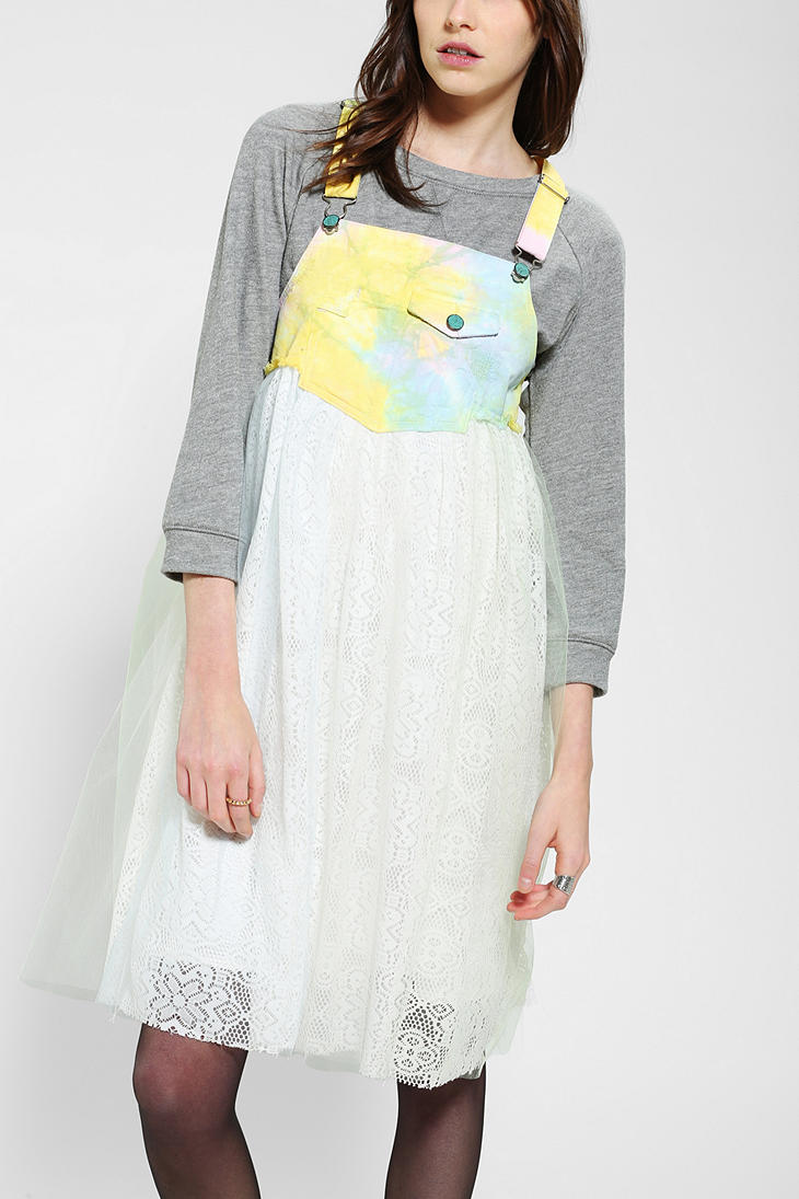 Lyst Urban Outfitters Jco Fiona Overall Dress In White